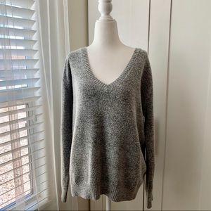 Lulu's oversized sweater v-neck & deep v-back #150